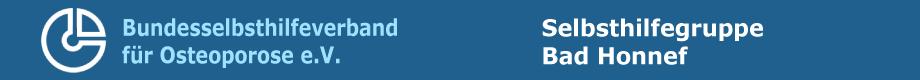 Logo Bundesselbsthilfeverband Osteoporose e.V. - Selbsthilfegruppe Bad Honnef